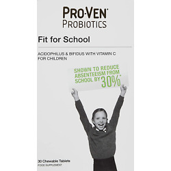 Proven Probiotics Fit for School Chewable Tablets food supplement - Pack of 30