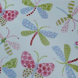 New Pottery Barn Kids Dragonflies and Butterflies Wall Decals Set of 11 Pastels