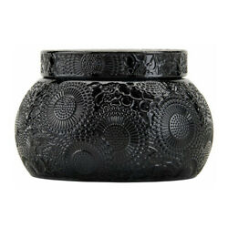 Voluspa Moso Bamboo Embossed Glass Chawan Bowl Candle 14 Ounces
