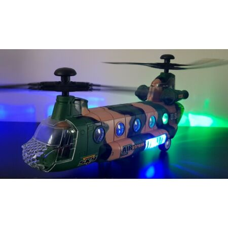 img-CHINOOK ARMY MILITARY HELICOPTER BUMP AND GO TOY 3D LIGHTS MUSIC GIRLS BOYS TOYS