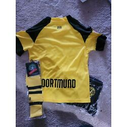 Dortmund No Name & # Kids Kid Soccer Jersey Kit Size 26 Age 9 to 10 Years Old