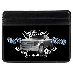 Ford 4X4 Trucking Rule The Off Road Black White Blue Grays Weekend Wallet  One