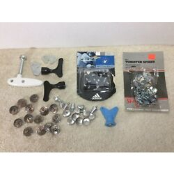 Lot of Replacement Spikes Studs Cleats and Tools for Golf Soccer Football Shoes