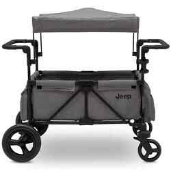 Jeep Wrangler Stroller Wagon with Included Car Seat Adapter by Delta Children -