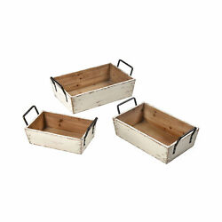 Pomeroy Traditional Hudgens Set Of 3 Bins With White Finish 639623