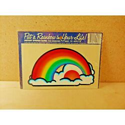 Vintage Stained Glass Window Decal Put A Rainbow In Your Life NOS Sunny Sky