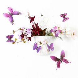 36pcs 3D Butterfly Wall Sticker Decal Stickers for BedRoom Decoration Purple