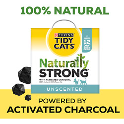 Tidy Cats Unscented Naturally Strong Clumping Multi-Cat Litter, 35 lbs.