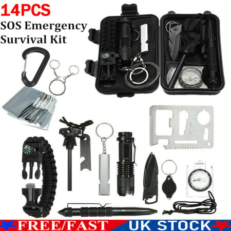 img-14 in1 Emergency Survival Kit Outdoor Equipment Box Hiking Camping Tactical Tool