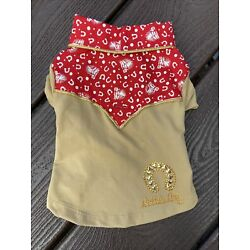 Toy Breed Dog Clothes Little Lily Cowboy Shirt Small