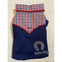 Toy Breed Teacup Dog Clothes Little Lily XS Cowboy Shirt