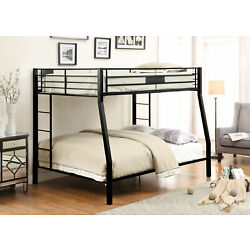 Acme Limbra Full XL/Queen Bunk Bed in Sandy Black Finish 38005