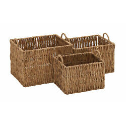 Stylish And Classic Style Seagrass Basket Set Of 3 Home Decor 48980