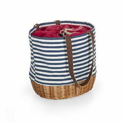 Picnic Time Family of Brands Canvas and Willow Basket Tote 203-00-211-000-0