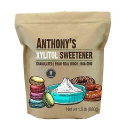 Anthony's Xylitol Sweetener, 1.5 lb, Made from Birch, Keto Friendly