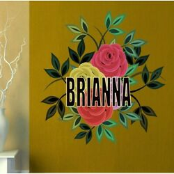 Boho Flowers Custom name wall decal, personalized sticker, personalized decal