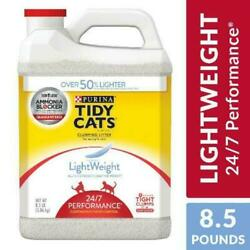 Purina Tidy Cats Light Weight 24/7 Low Dust Clumping Cat Litter, Scented 8.5 lb