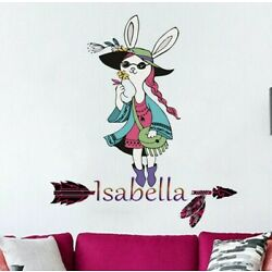 Boho Girl Custom name wall decal, personalized sticker, personalized decal