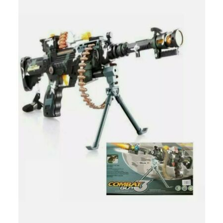 img-Combat 3 Army Commando Machine Gun Pistol Toy Gift Kids With Lights And Sounds