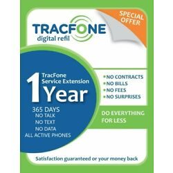 tracfone service extension 1 year / 365 days