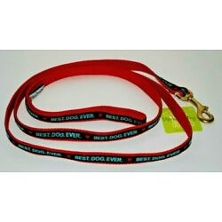 Up Country - Red Dog Leash - Made In USA - BEST DOG EVER - 6' x 5/8''  NEW