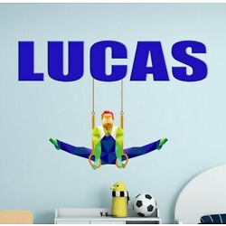 Gymnast Custom name wall decal, personalized sticker, personalized decal
