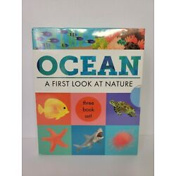 OCEAN ''A First Look At Nature''3 Book Set for Children by The Little Tiger Group