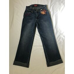 Apple Bottom Womens Jeans Size 4 - Dark Wash Bootcut Faded Jeans with Tags