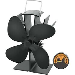 Heat Powered Wood Stove Fan with 4-Blade, Quiet Fireplace Wood Burning Eco-Frien