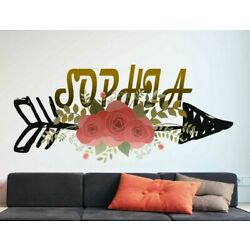 Boho Arrow Custom name wall decal, personalized sticker, personalized decal