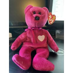 TY BEANIE BABY BABIES Valentina BEAR MWMT Ship Discount Available