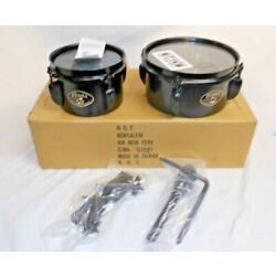 Brand New NOS IN BOX Tama MT68STBK 6'' & 8'' Mini Timbales in Black w/Holder