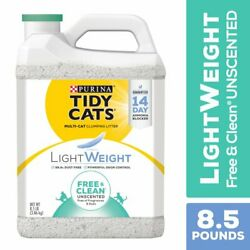 Purina Tidy Cats Low Dust, Clumping Cat Litter, LightWeight Free & Clean Unscent