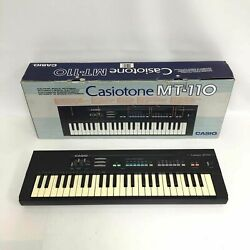 Vintage 1980s Casio Casiotone MT-110 PCM Synth Portable Keyboard IOB - Works!