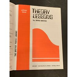 THEORY LESSONS, Primer Level, Bastien Piano Library, WP6, 29 pages paperback