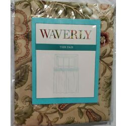 Waverly Tier pair Imperial Dress Antique 52x24''  Curtain Floral