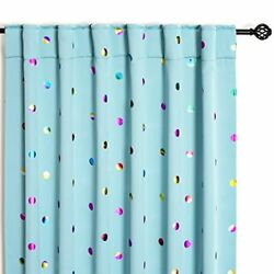 Blue Blackout Curtains for Bedroom Living Room 84 Inches Decorative Colorful ...