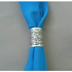Scarf apache tie slide country western square dance NEW antique silver color