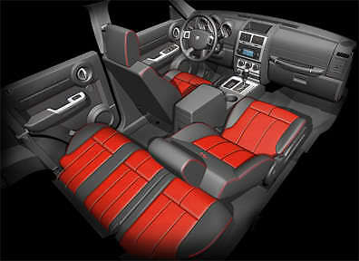 Coverking Seat Covers >> 2007-11 Dodge Nitro - Leather Interior Kit/ Seat Covers | eBay