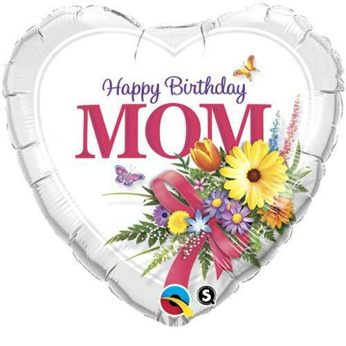 """Birthday MOM 18"""" Heart Balloons Gifts Party Decorations"""
