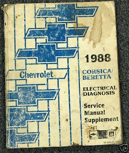 1988 chevy corsica beretta electrical service manual ebay