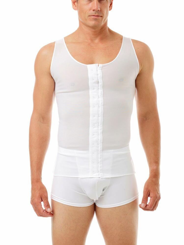 Gynecomastia post surgical extra compression shirt 2x ebay for Compression tee shirts for men