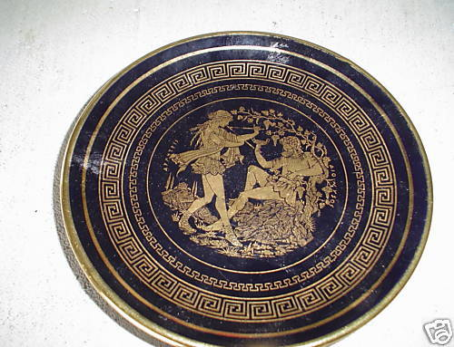 Vintage Gold Trim Ancient Greece Decorative Plate Look Ebay
