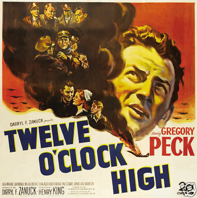 twelve oclock high gregory peck vintage movie poster ebay