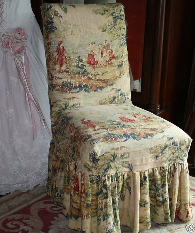 covington bosporus toile chair slipcover custom made ebay