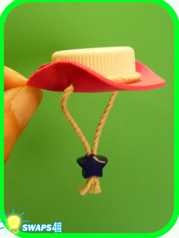pink cowgirl hat girl scout swaps craft kit by