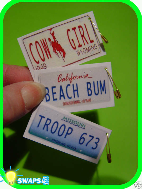 custom mini license plates girl scout or boy scout