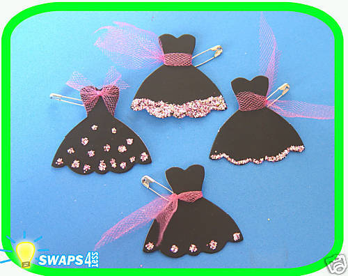 lil black dress girl scout swaps craft kit by
