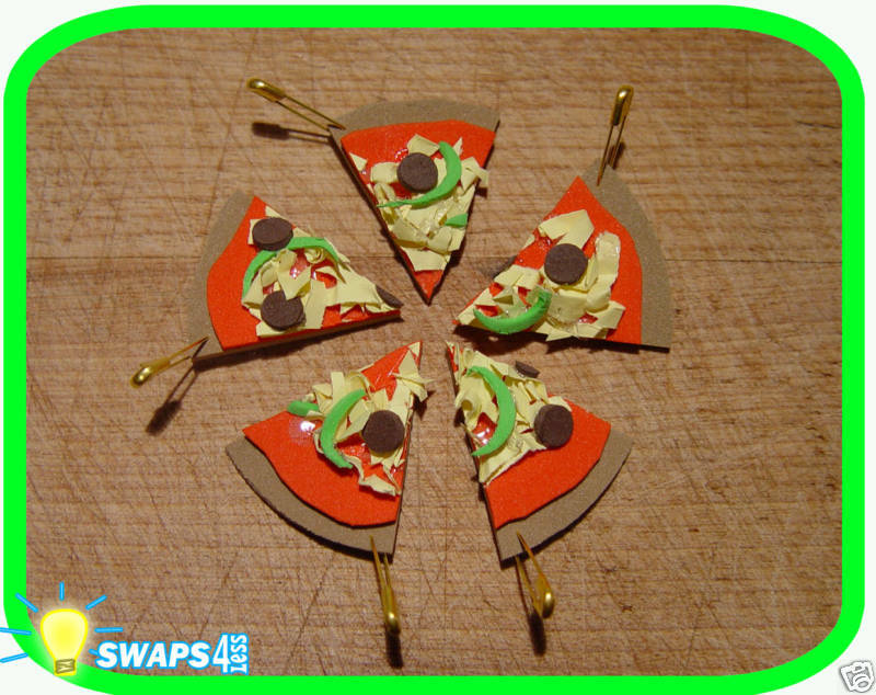 mini pizza girl scout or boy scout swaps craft kit by