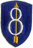 8TH INFANTRY DIVISION UNIT PATCH WWII (ORIGINAL)